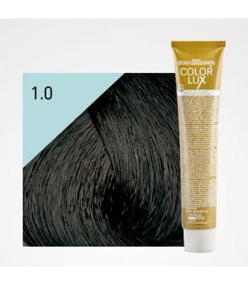 Vopsea profesionala pentru par negru Color Lux 1.0 - 100 ml