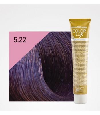 Vopsea profesionala pentru par castaniu violet deschis intens Color Lux 5.22 - 100 ml