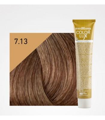 Vopsea profesionala pentru par blond bej Color Lux 7.13 - 100 ml