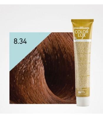 Vopsea profesionala pentru par auriu aramiu deschis Color Lux 8.34 - 100 ml